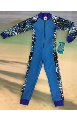 Baby Stinger Suit - Marine Body / Athlete Sleeves & Sides / Royal Trim