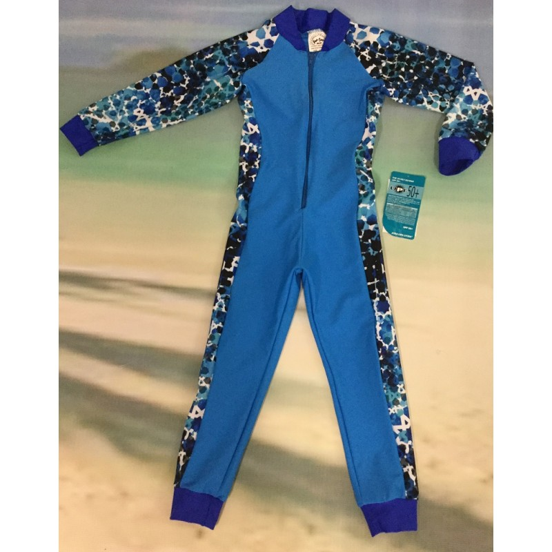 Baby Stinger Suit - Marine Body / Athlete Sleeves & Sides / Royal Trim