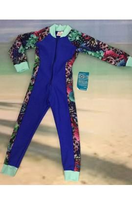 Children Stinger Suit - Royal Body / Hyper Sleeves & Sides / Mint Trim