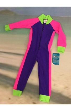 Baby Stinger Suit - Purple Body / Pink Sleeves & Sides / Lime Trim