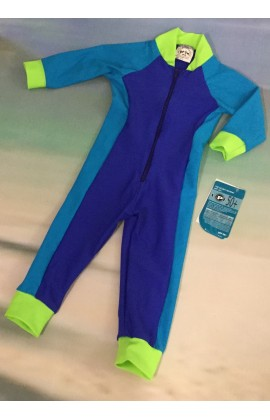 Baby Stinger Suit - Royal Body / Turquoise Sleeves & Sides / Lime Trim