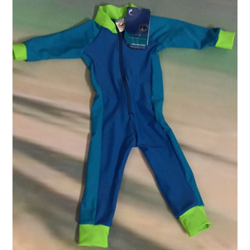 Baby Stinger Suit - Marine Body / Turquoise Sleeves & Sides / Lime Trim